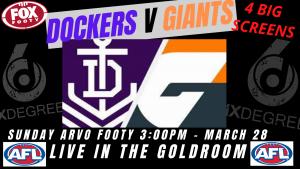 AFL 2021 Round 2 – Dockers v Giants