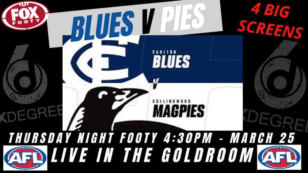 AFL 2021 - rnd 2 - Blues v Pies