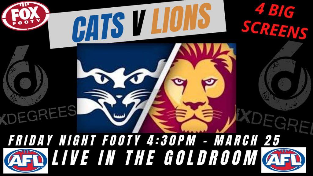 AFL 2021 Round 2 - Cats v Lions