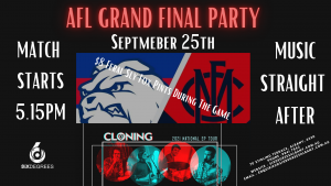Cloning - Six Degrees, Albany             GRAND FINAL PARTY!