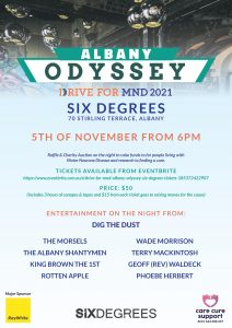DRIVE FOR MND - Albany Odyssey @ Six Degrees